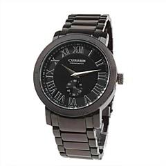 Modische Herren Armbanduhr mit schwarzem Ziffernblatt