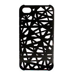 Kaiverrettu viivakuvioinen suojakuori iPhone 4:lle (musta)