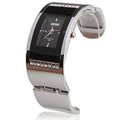 Stainless Steel Bracelet Band Wrist Watch - Black
