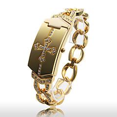 Montre-Bracelet à Quartz Tendance pour Femme,  Bracelet en Alliage Doré