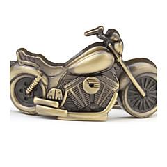 Unisex Bronze Motorcycle Style Analog Keychain Watch