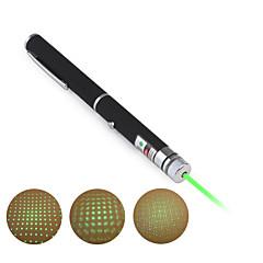 2-i-1 grön kraftfull laserpekare (5mw, 532nm, 2xAAA)