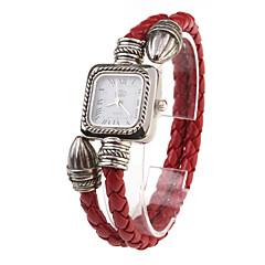 Damskie Zegarek na bransoletce Na codzień Kwarcowy Pasmo Postarzane Czerwony Czerwony