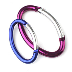 Elliptical Aluminum Carabiner (Random Color)