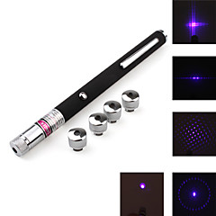5-Mode Blue Laser Pointer with Battery (5mw,405nm,Black)