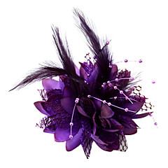 Vrouwen Bloemenmeisje Veren Katoen Helm-Bruiloft Speciale gelegenheden Fascinators Bloemen