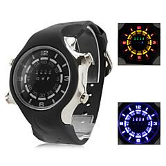homens e mulheres multifuncional silicone relógio digital de pulso com caixa do relógio de led (preto)
