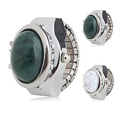 kvinnors legering analoga ring klocka (silver)
