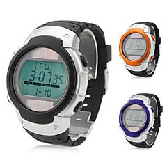 Männer-und Frauen-Silikon digitale automatische Armbanduhr (schwarz)