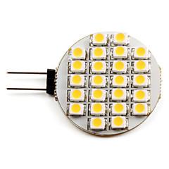 G4 1-1.5W 24x3528 SMD 50-60LM 2800-3200K lämmin valkoinen LED spottilamppu (12V)