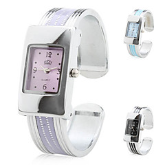 Women's Quartz Analog Stripe Alloy Band Bracelet Watch (Assorted Colors) Cool Watches Unique Watches