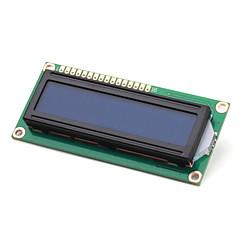 elektronik diy (til Arduino) LCD-modul 1602 hvid på blå med baggrundslys