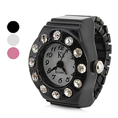 Women's Diamond Crystal Style Alloy Analog Quartz Ring Watch (Assorted Colors)