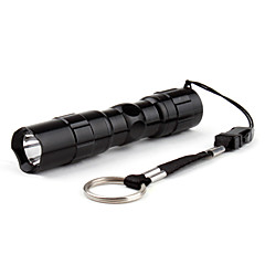 Police 1-Mode LED Flashlight with Box (50LM, 1xAA, Black)