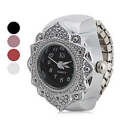 Dames Modieus horloge Kwarts Roestvrij staal Band Bloem Zilver Merk-