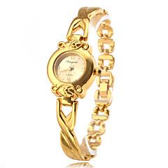 Damen Modeuhr Quartz Legierung Band Gold Marke-
