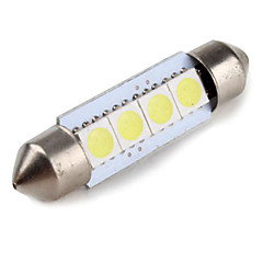 39 millimetri 1W SMD 4x5050 festone luce bianca ha condotto la lampadina per la lampada di lettura auto (12v)