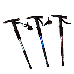 4-Section Aluminum Hiking Walking Climbing Stick with Light (Random Color)