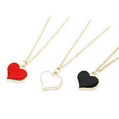 divat édes aranyozott szélű szív alakú nyaklánc