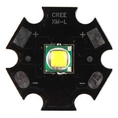 diy Cree 10w 1000lm 7000K vitt ljus ledde emitter med aluminium bas (3,2-3.6V)