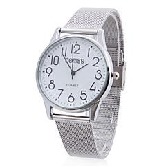 남녀공용 합금 아날로그 쿼츠 손목시계 (실버)