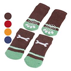 Σκυλιά Κάλτσες Καθημερινά Διατηρείτε Ζεστό Χειμώνας Άνοιξη/Χειμώνας Κόκαλο Κόκκινο Πορτοκαλί Μπλε Καφέ Βαμβάκι