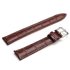 unisex lederen horlogebandje 16mm (bruin)