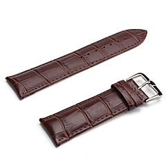 unisex lederen horloge band 24mm (bruin)