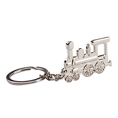 Metal Silver Train Keychain