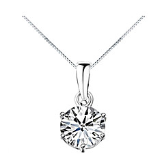 Women's Pendant Necklaces Zircon Cubic Zirconia Alloy Fashion Silver Jewelry Daily 1pc