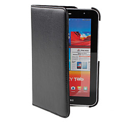 360 Degree Rotating Lychee Texture PU Leather Case with Stand for Samsung Galaxy Tab2 7.0 P3100 (Black)