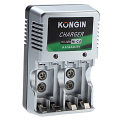 Kongin Lader for Ni-Mh Ni-CD AA AAA 9v batteri