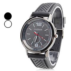 relógio dos homens de pulso de quartzo analógico plástico (preto)