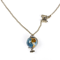 Terrestrial Globe Shape Copper Necklace