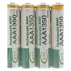BTY genopladelige Ni-MH AAA batteri (1350 mAh)