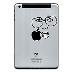 Face with Glasses Design Protector Sticker for iPad Mini