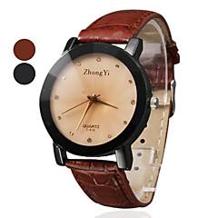 estilo casual relógio banda pu quartzo pulso das mulheres (cores sortidas)
