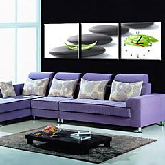 style moderne scénique toile horloge murale 3pcs K252