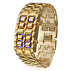 Orologio-bracciale 8 LED (blu), digitale - Bronzo (1*CR2016)