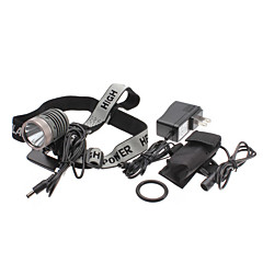 UniqueFire HD003 5-mode cree XM-L T6 LED oplaadbare koplamp Set (10w, 1000LM, batterij + AC Charger)
