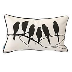 vogels 'whisper afdrukken decoratieve kussensloop