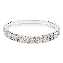 Narrow Silver Plated Crystal  Bracelet Christmas Gifts