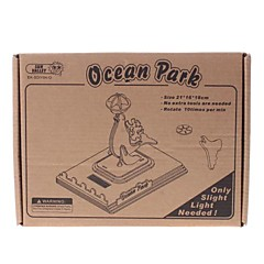 DIY Solar Power Energy Flatpakket Wooden Ocean Park Dolphin Kit