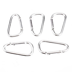 The Silver Aluminum Alloy Fashion Buckle for Climbing/Camping 006012(5 PCS/Bag)