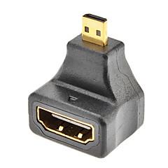 Micro HDMI hane till HDMI Kvinna adapter för Samsung Galaxy S3 I9300 m.fl.