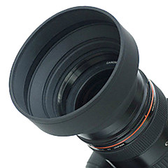 67mm Rubber Lens Hood for Vidvinkel, Standard, telelinse