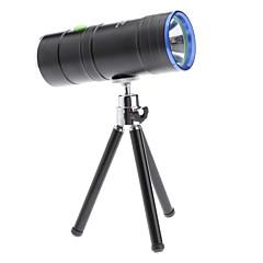 Aleación de aluminio negro de doble fuente de luz de alta Pesca Luz penetrante con un soporte triangular pequeño