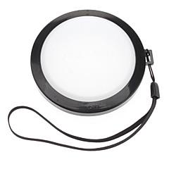 Mennon 77mm Caméra Blanc Couverture Cap Solde objectif avec dragonne (noir et blanc)
