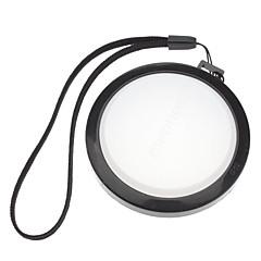 Mennon 62mm Caméra Blanc Couverture Cap Solde objectif avec dragonne (noir et blanc)