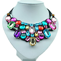 Colorful Diamond Stitching By Hand Woven Necklace